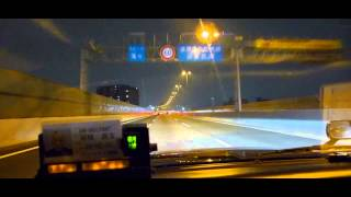 Night (clear short Wangan) Hanshin Expressway OSAKA