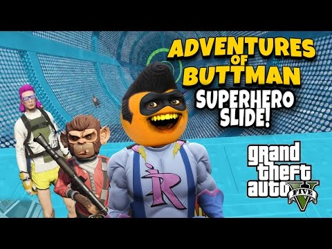 Adventures of Buttman #14: Superhero Slide!