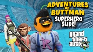 Adventures of Buttman #14: Superhero Slide!