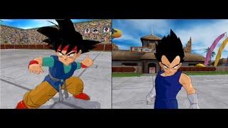 Goku Jr vs Vegeta Jr| Dragon Ball Budokai Tenkaichi 3 (MOD)