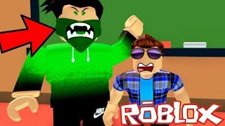 RUN AWAY FROM THE EVIL SCHOOL TEACHER! Let's Play EVIL SCHOOL OBBY in Roblox