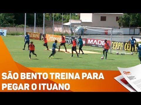 São Bento treina para pegar o Ituano - TV SOROCABA/SBT
