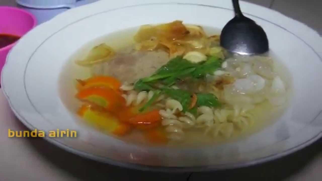 Resep Masakan Sup Galantin Daging Sapi Bumbu Dapur Indonesia Bunda Airin Youtube