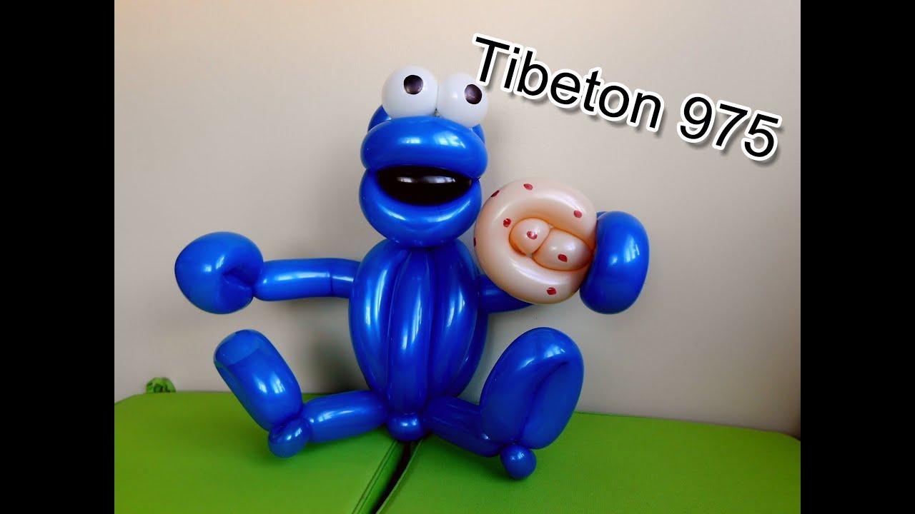 N 68 cookie monster balloon tutorial globo youtube voltagebd Images