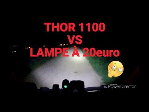4 Test Eclairage Spanninga Thor 1100 Vs Lampe 3 Leds Youtube