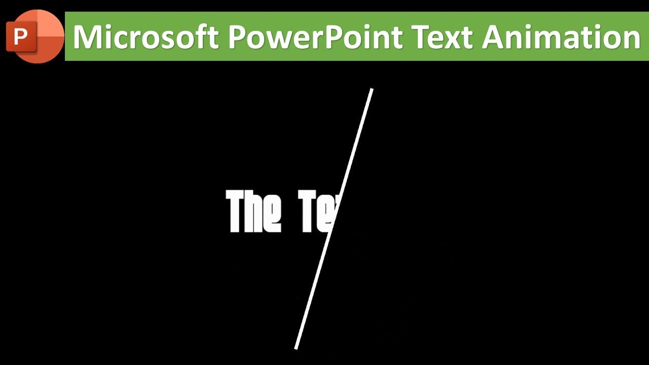 Text Animation With Line in Microsoft PowerPoint 2016 / 2019 Tutorial