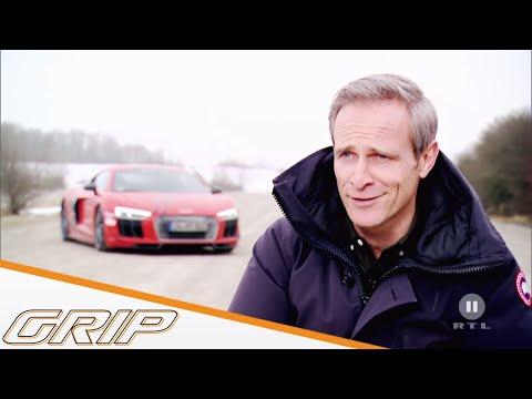 MTM Audi R8 V10 plus Supercharged vs. Nissan GT-R - GRIP - Folge 432 - RTL2