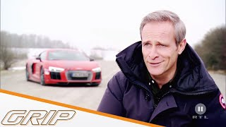MTM Audi R8 V10 plus Supercharged vs. Nissan GT-R - GRIP - Folge 432 - RTL2