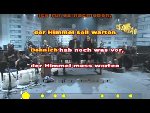 Karaoke Sido feat. Adel Tawil - Der Himmel soll warten Instrumental Cover