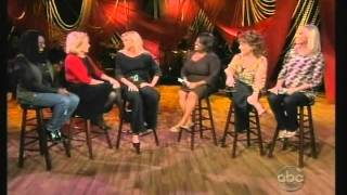 faith hill on the view(listen to what barbara said  to faith at .32)