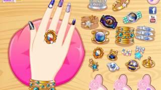Super Cute Manicure DIY Tutorial Girl Game Video - Galaxy Nail Art Designs