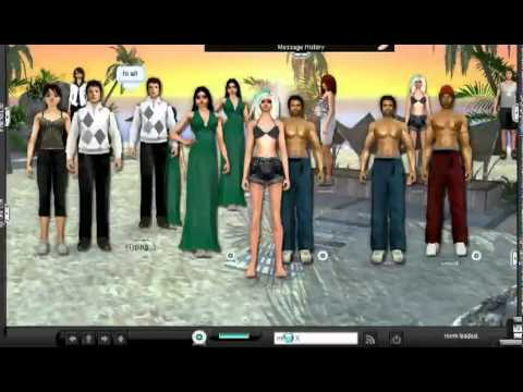3D Chat Rooms  Meepe  Virtual Chat Community  YouTube