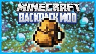 Minecraft Mods! BACKPACK MOD! Portable Chest! (Mod Showcase)