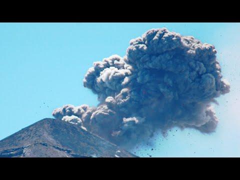 Fuego volcano erupts and covers La Antigua with ash, Guatemala. [subtitles] / Natural Disasters