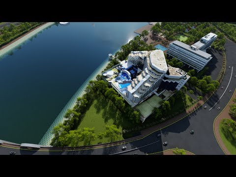Proposed Sirajganj Economic Zone 3D animation