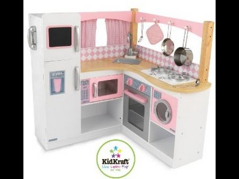 KidKraft Corner Kitchen Set (pink And White)_[TL Toy Review]   YouTube