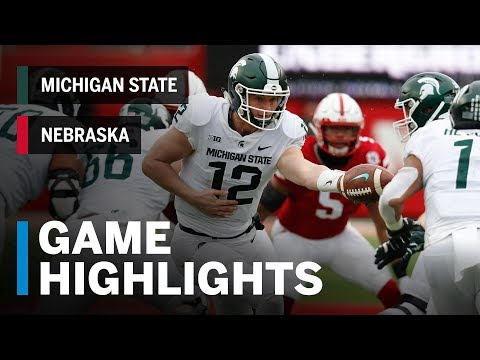 Highlights: Michigan State at Nebraska | Big Ten Football