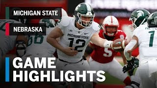 Highlights: Michigan State at Nebraska Big Ten Football