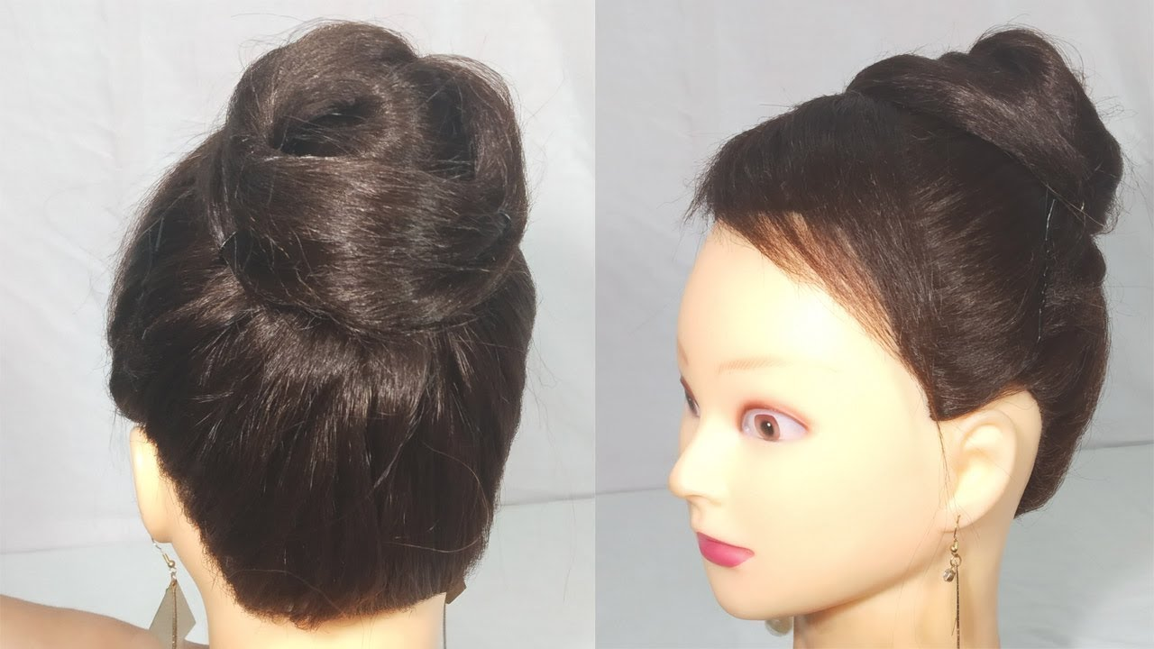 Simple juda hairstyle for party || juda trick || cute hairstyles for girls || hairstyles 2019 ...