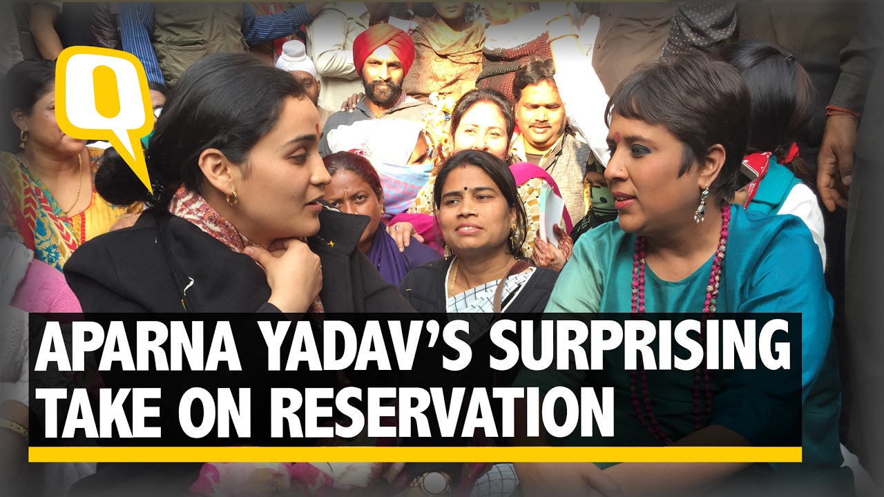 The Quint: Aparna Yadav and her controversial take on reservation