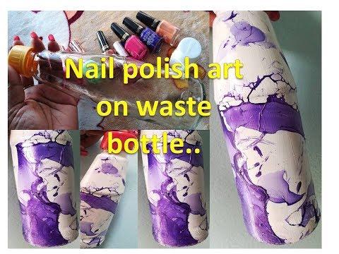 Easy Nail Polish Art On Glass Bottle | Nail Polish Hacks | Glass Bottle Decoration Ideas