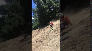 Workman Faceplants Into Dirt While Sliding Down Slope 1020659