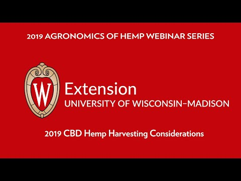 2019 CBD Hemp Harvesting Considerations