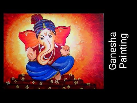 Ganesha Painting Acrylic Painting Tutorial