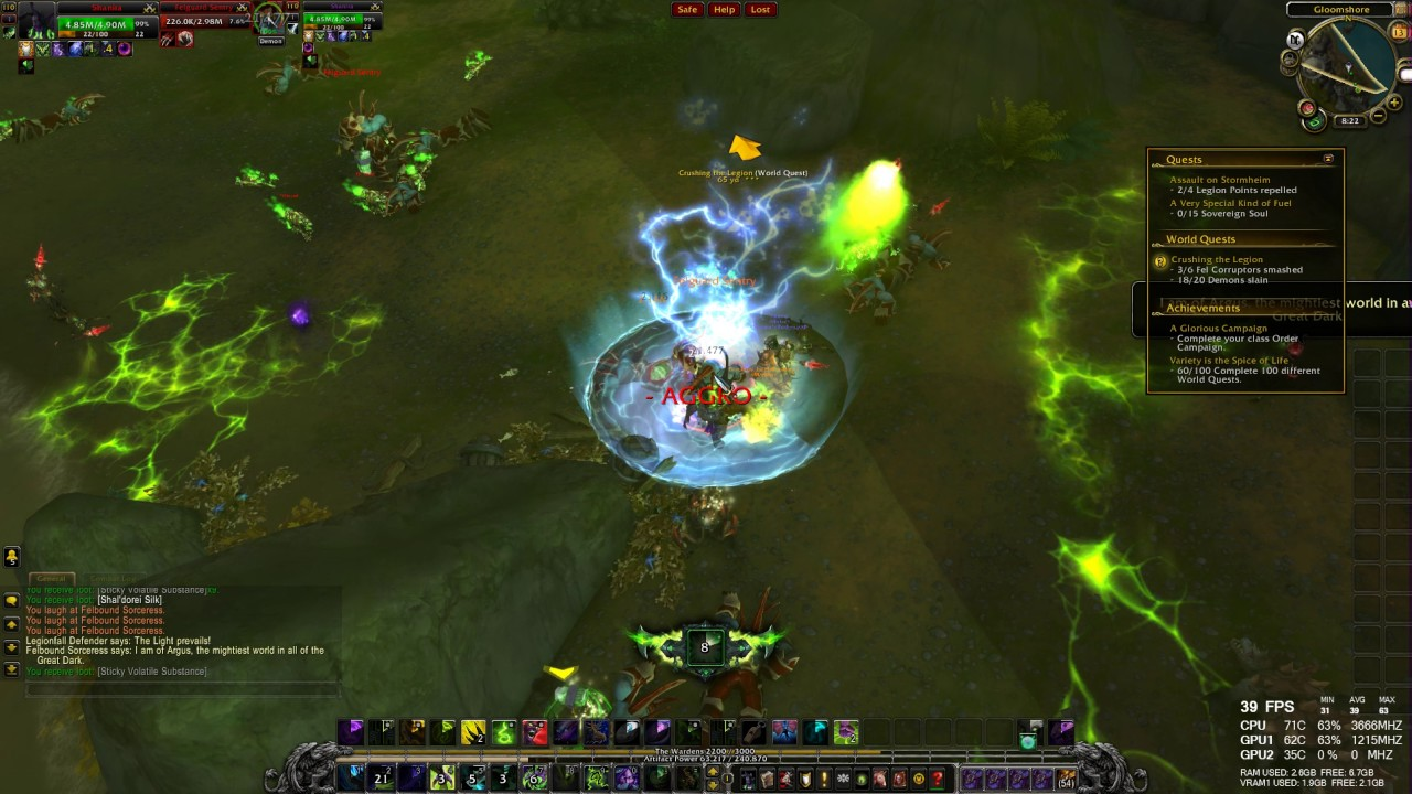 World Quest Crushing The Legion Wow Legion Hd 1080p 60fps Youtube