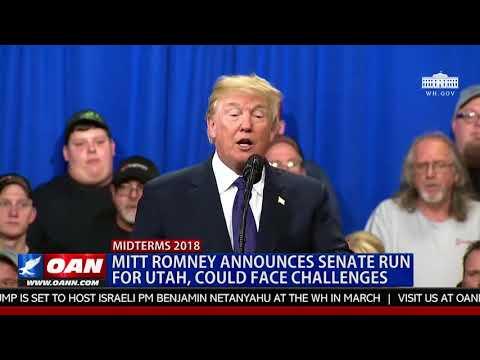 Mitt Romney Announces Run for Utah