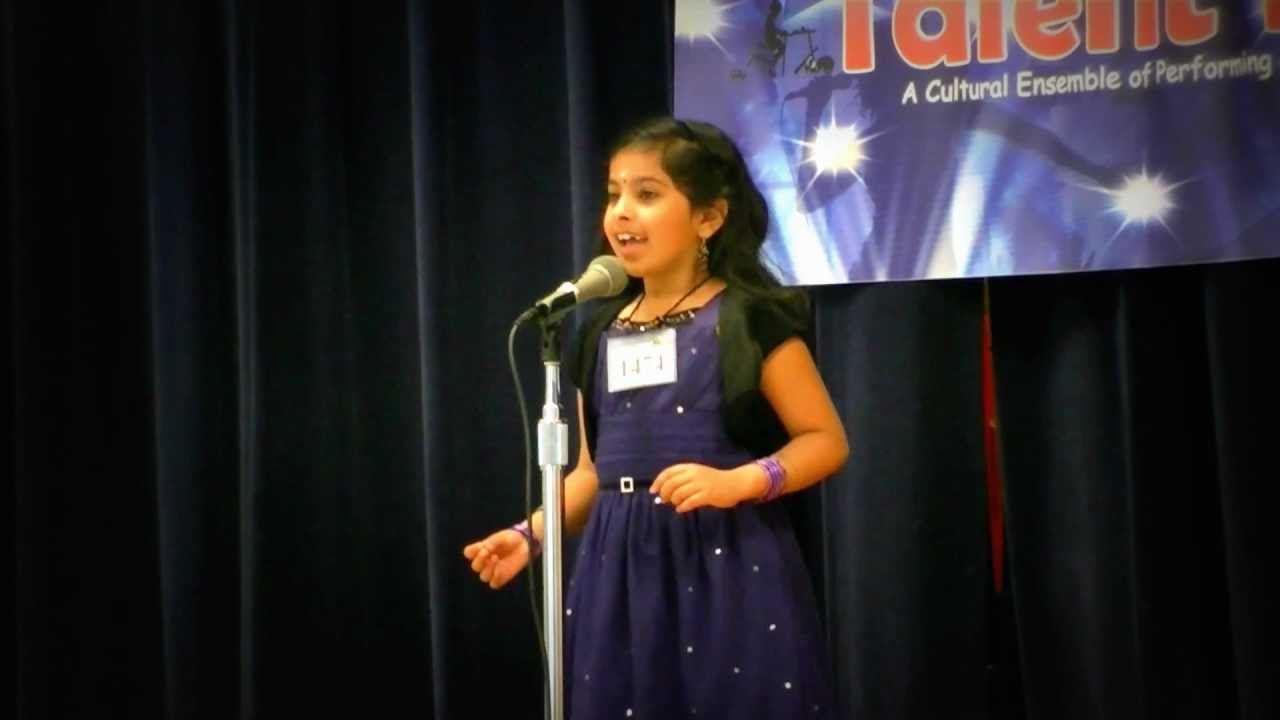 KAGW Talent Time 2012 - Shriya's Malayalam recitation- Won ...
