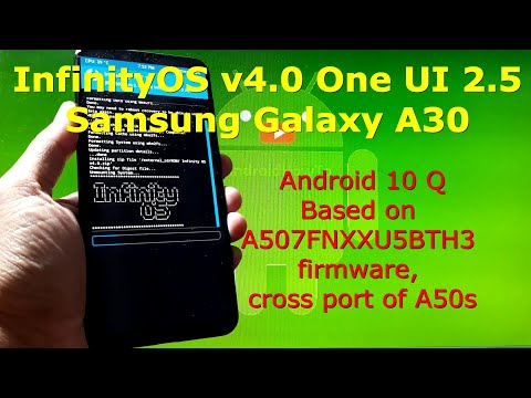 InfinityOS v4.0 OneUI 2.5 for Samsung Galaxy A30 Android 10 Q