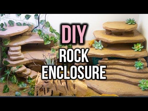 Building a DIY Leopard Gecko Rock Enclosure!