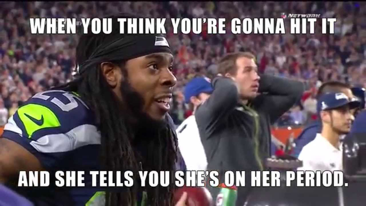 Richard Sherman Going Off on Michael Crabtree w/ Erin ... |Richard Sherman Crabtree Meme