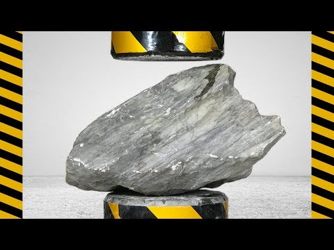 200 tons of pressure vs big stones, who is stronger