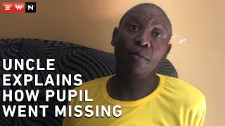 The missing Queens High school pupil has been found at Maponya Mall on Wednesday. Mduduzi Masuku, uncle of the pupil explained to EWN how he went missing and how he felt after the boy was found.