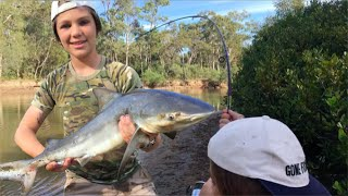 Shark Fishing and catching HUGE fish!(On this adventure I go out and try to catch some deadly sharks in a small river in Queensland, Australia! I also caught plenty more fish on this journey so watch to ..., 2016-08-11T22:52:30.000Z)
