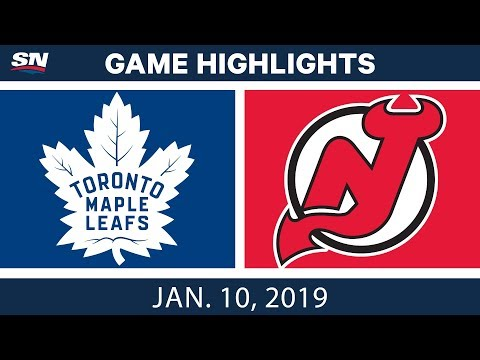 NHL Highlights | Maple Leafs vs. Devils - Jan. 10, 2019