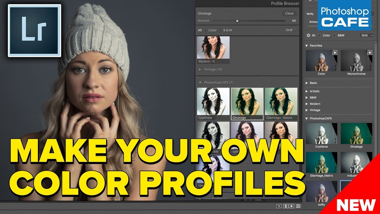 How to change color profile in lightroom