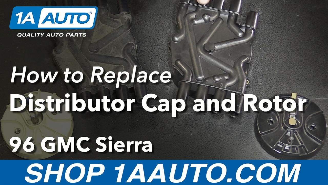 how to replace distributor cap rotor 96 99 gmc k1500 v8 5 7l [ 1280 x 720 Pixel ]