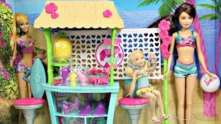 Skipper Doll and Tiki Hut Playset / Chatka Sióstr Barbie - Live in the Dreamhouse - CBR14
