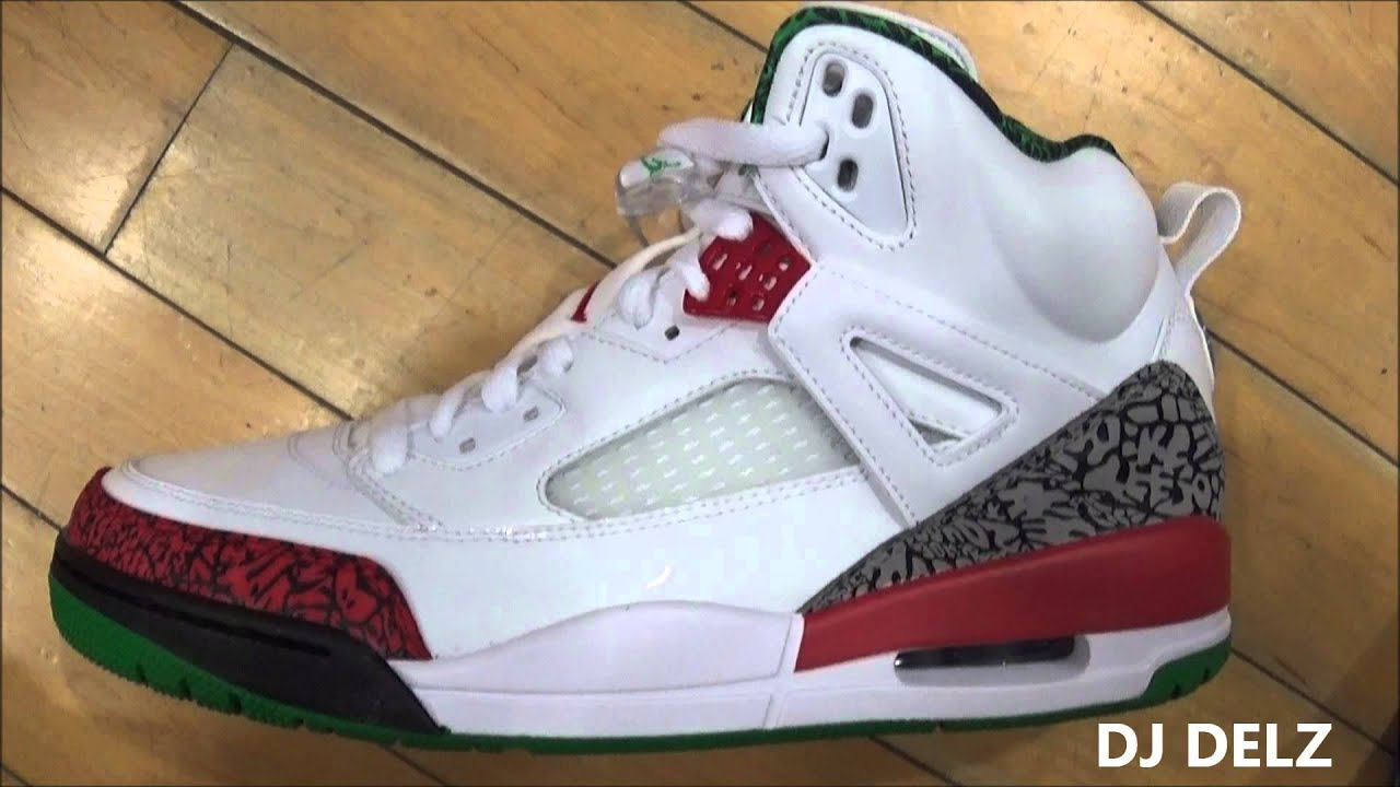 best sneakers 23877 7245d Air Jordan SPIZIKE OG White Green Red Sneaker Review With DJ Delz