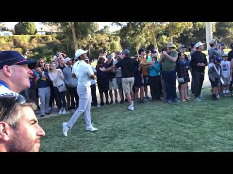 4K Tiger Woods, Rory Mcilroy, Justin Thomas, Phil Mickelson Genesis Open Round 2 February 16, 2018