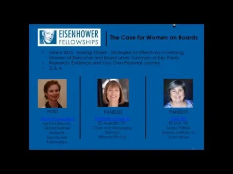 The Case for Women on Boards Webinar April 2016