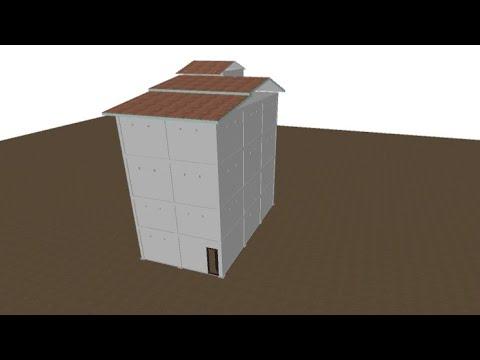 desain rumah burung walet ukuran 6 x 12, empat lantai
