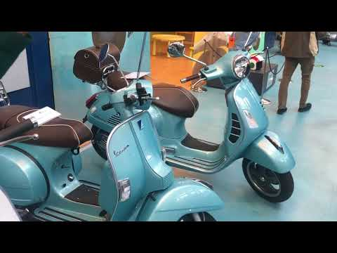 70th Anniversary Vespas at the Piaggio Museum in Pontedera Italy