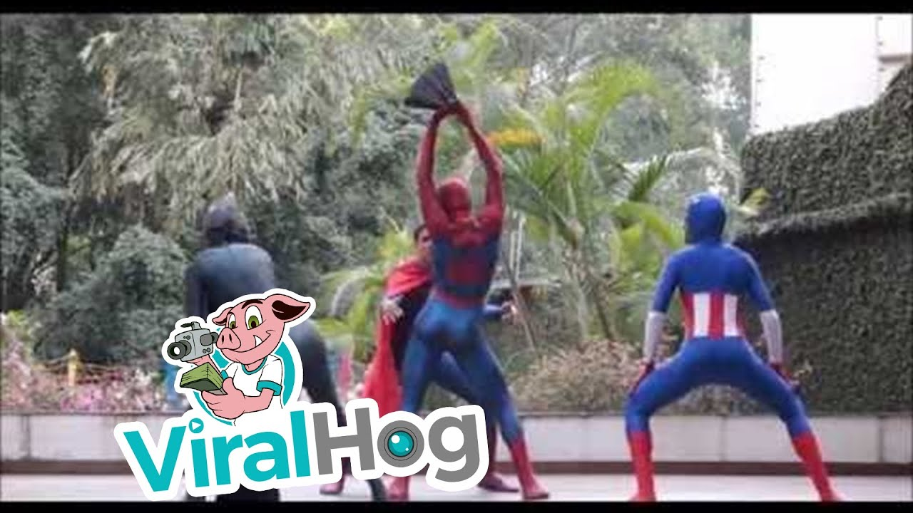 Superheros with Killer Dance Moves || ViralHog
