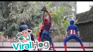superheros with killer dance moves viralhog
