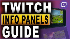 Twitch Info Panels GUIDE (2018)