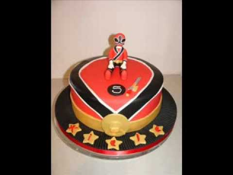 Power Rangers Red Samurai Fondant Cake Youtube